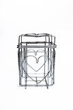 Steel Cage Heart drying power of love Stock Image