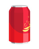 Steel Can of Drink. Celebration of any Holiday. Royalty Free Stock Image