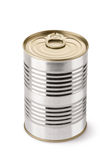 Steel can with key. Placed on white background Royalty Free Stock Photos
