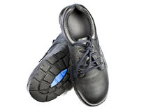 Steel Cap Safety Shoes Royalty Free Stock Photos