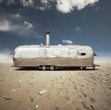 Steel caravan in the desert Royalty Free Stock Photo