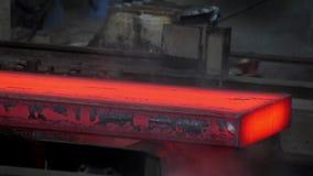 Steel casting stock video