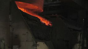 Steel casting stock footage