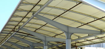 Steel Ceiling Structure Stock Photography
