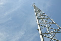 Steel cell phone tower Stock Images