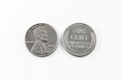 1943 Steel Cent Stock Photo