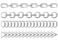 Steel chain Stock Images