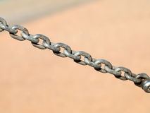 Steel chain Royalty Free Stock Photos