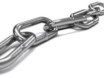 Steel chain Stock Photography