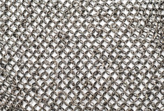 Steel chain armor texture. Background Royalty Free Stock Photography