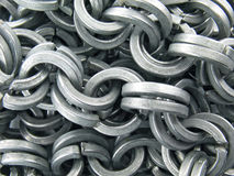 Steel chain background Stock Images