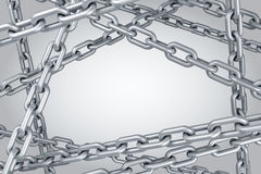 Steel chain background Royalty Free Stock Image