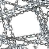 Steel chain background Royalty Free Stock Photography