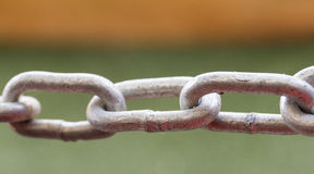 Steel chain close up Stock Photo