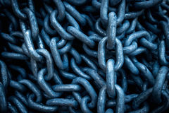 Steel chain. Large steel big chain background Royalty Free Stock Image