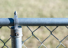 Steel Chain-Link Fence Stock Photography