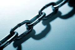 Steel chain links Stock Image