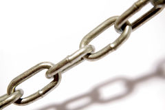 Steel chain links Royalty Free Stock Images