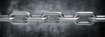 Steel chain Royalty Free Stock Images