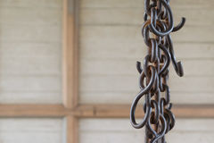 Steel chain pulley Stock Photography