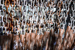 Steel chain with stain rust Royalty Free Stock Images