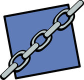 steel chain vector illustration Stock Images