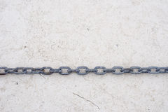 Steel chain on white background Royalty Free Stock Photo