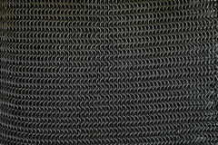 Steel chainmail. Knight fragment background Royalty Free Stock Images
