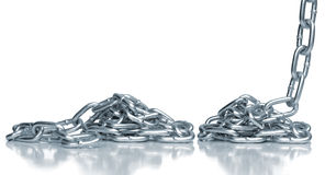 Steel chains Stock Photo
