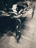 Steel Chains in Grayscale Photography Royalty Free Stock Images
