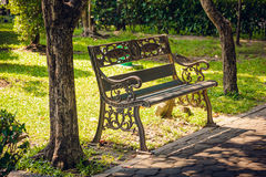 Steel chairs Park Royalty Free Stock Images