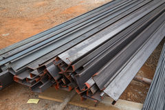 Steel channel (steel C chanel) Royalty Free Stock Images
