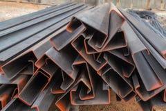 Steel channel (steel C chanel) Stock Photography