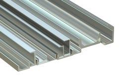 Steel channels, 3D rendering Royalty Free Stock Photo