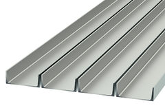 Steel channels Royalty Free Stock Photo