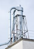 Steel chimneys industry Stock Photography
