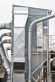 Steel chimneys industry Stock Images