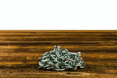 Steel chromeplated chain Royalty Free Stock Photography