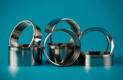 Steel chromium-plated rings Royalty Free Stock Photo