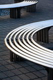 Steel circle bench Stock Photo