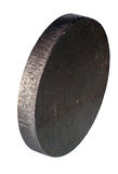 Steel circle cutted by CNC laser isolated Royalty Free Stock Photography