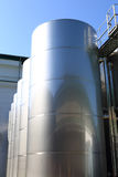 Steel cisterns at winery Stock Photography
