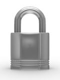 Steel closed lock on white background Royalty Free Stock Photography
