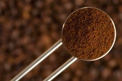 Steel coffee spoon Royalty Free Stock Image