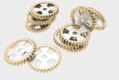 Steel cog wheels Royalty Free Stock Photos