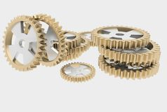 Steel cog wheels Stock Photography