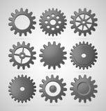Steel cogwheels Royalty Free Stock Image