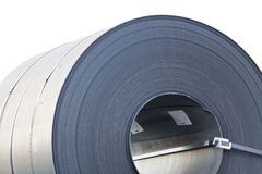 Steel Coil. Hot rolled steel coil stacked outside Royalty Free Stock Photo