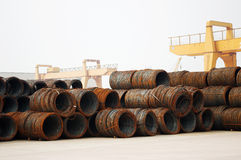 Steel coil Royalty Free Stock Images