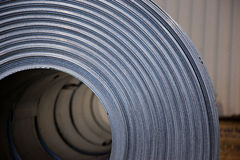 Steel coil. Zinc coat steel plate in coil Stock Photography